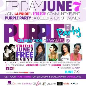LA PRIDE Purple Party 2013