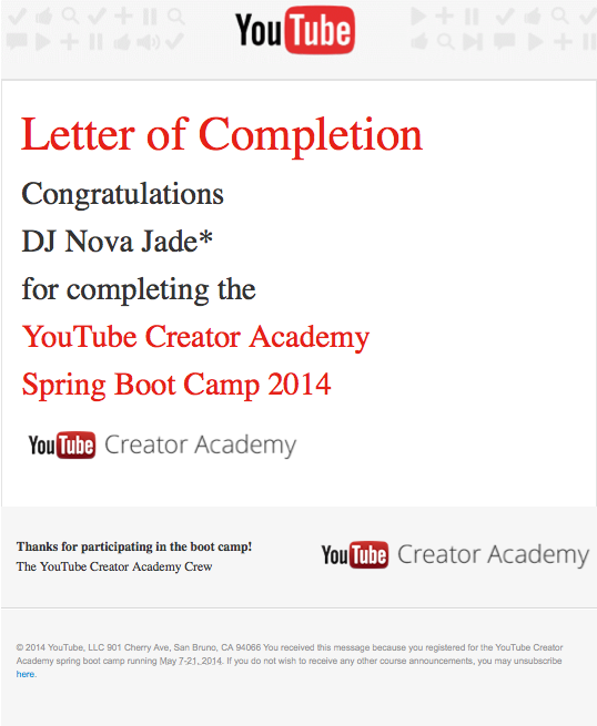 I completed the Spring 2014 #YTCAbootcamp!