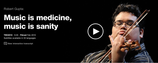 TedTalk: Music is Medicine, Music is Sanity