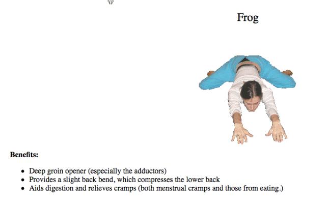 Yin Frog Pose